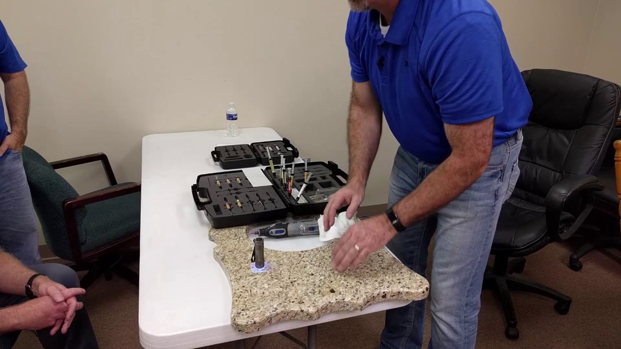 Fill Chips In Granite Easily In Less Than 5 Minutes With Fillachip Youtube