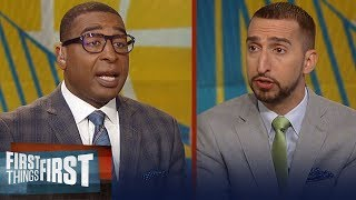 Nick Wright talks Steph Curry's foot sprain & Rockets loss to Thunder | NBA | FIRST THINGS FIRST