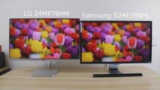 Samsung S24E390 vs LG 24MP76 comparison and review.