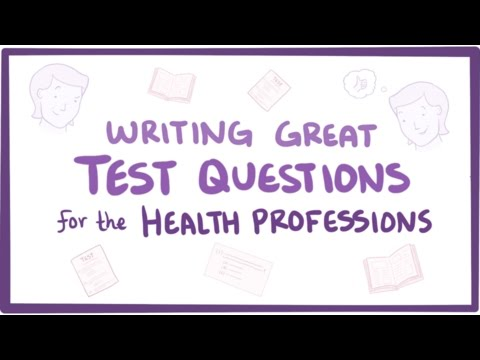 Writing great questions for the health professions