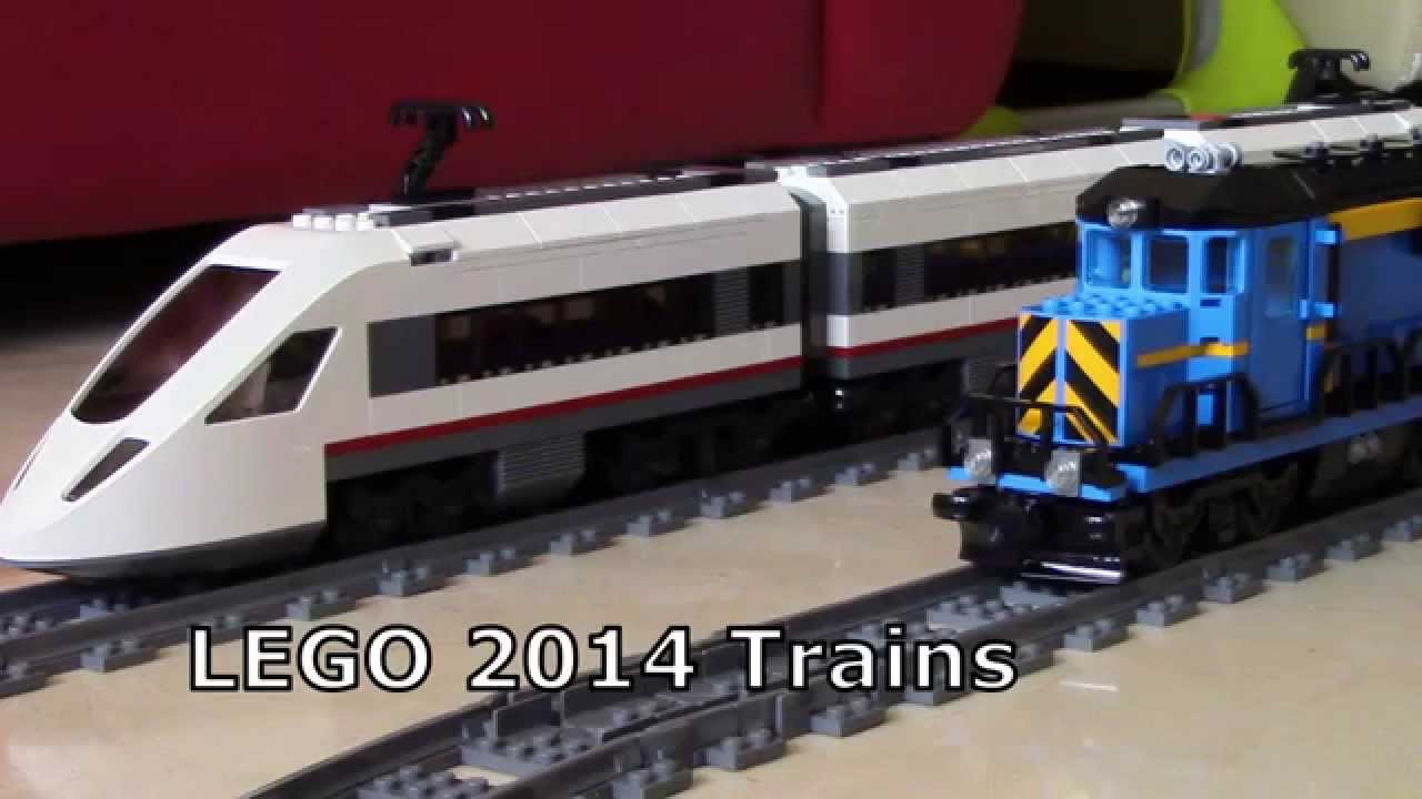 Lego 2014 Trains The 60051 Passenger Train And 60052 Cargo Train