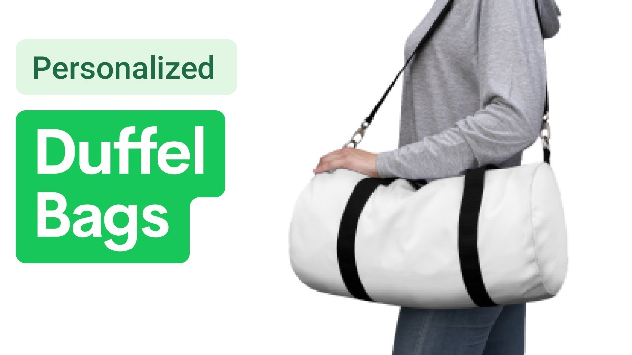 Custom Duffle Bags in 2 Sizes [Printify Product Review]