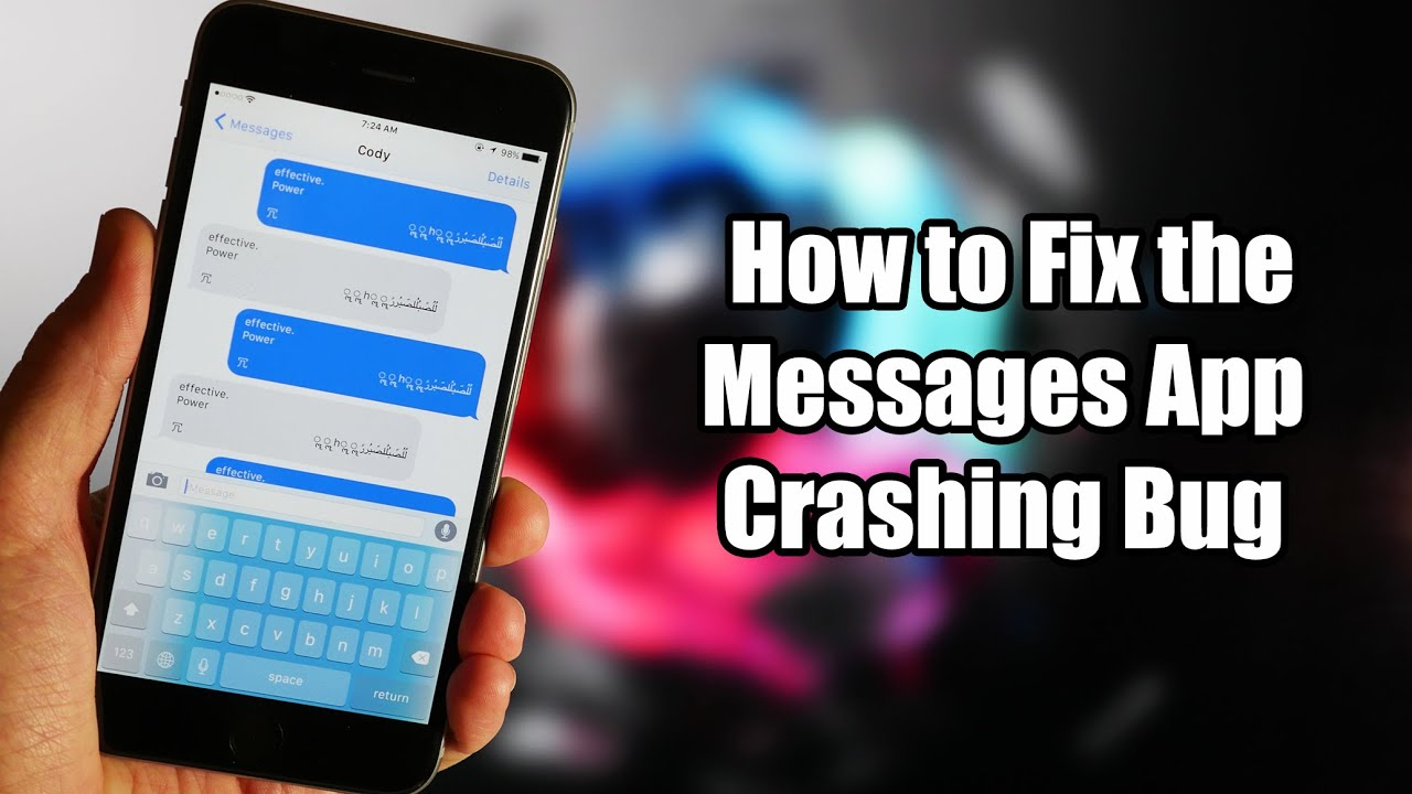 How To Fix The Messages App Crashing Bug Youtube