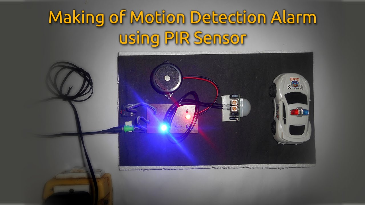 How To Make A Motion Detection Alarm Using Pir Sensor Youtube Build Your Own Security Systems Ir Receiver Circuit Diagram