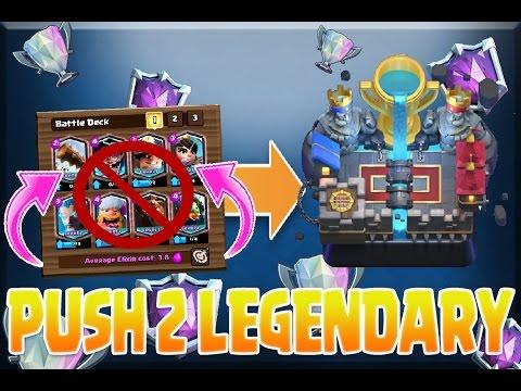 PUSH to LEGENDARY with NO LEGENDARIES! Clash Royale