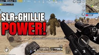 SLR Rifle + Ghillie Suit POWER! | FPP Solo VS Squad | PUBG Mobile