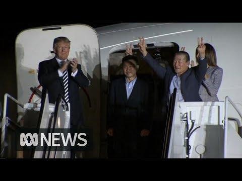 Trump Welcomes US Prisoners Released By North Korea