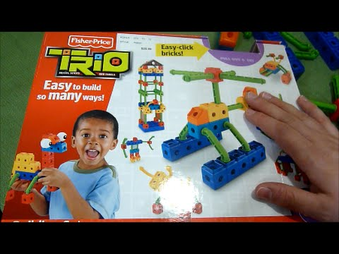 Review Of Fisher-Price Trio Bricks, Sticks And Panels Building Set With 84 Pieces