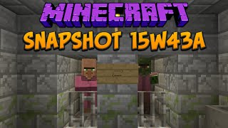 Minecraft 1.9 Snapshot 15w43a Igloo & Dungeon! New Loot Table System