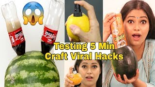 Testing Viral Food Hacks by 5 Minutes Craft