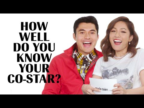 The Cast of 'Crazy Rich Asians' Play How Well Do You Know Your Co-Star | Marie Claire