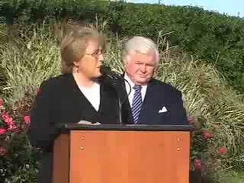 Chilean president visits Sen. Ted Kennedy