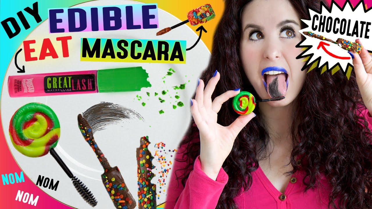 DIY EDIBLE Mascara | EAT Your Mascara | Lick Your Mascara ...