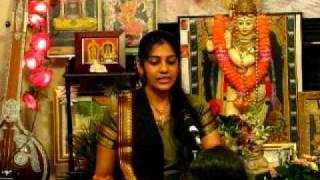 Harini singing Saravana Bhava Enum