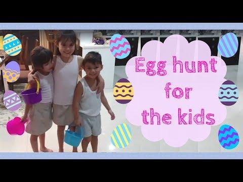Egg hunt for the kids :)