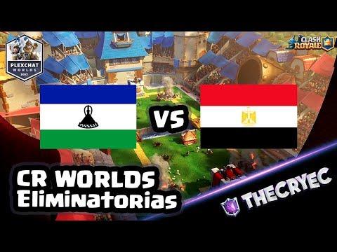 🔴 LESOTHO vs EGIPTO | FASE DE ELIMINATORIAS DE LA CR WORLDS | TheCryEc | Clash Royale