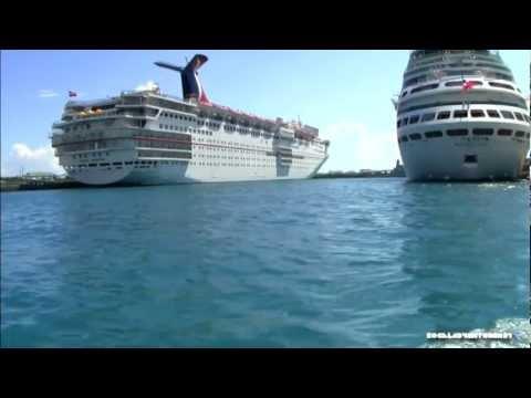 Nassau, Bahamas Ferry Boat from Port to Paradise Island HD