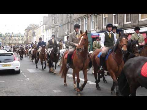 Denholm Rideout leaving town... Hawick Common Riding 2016