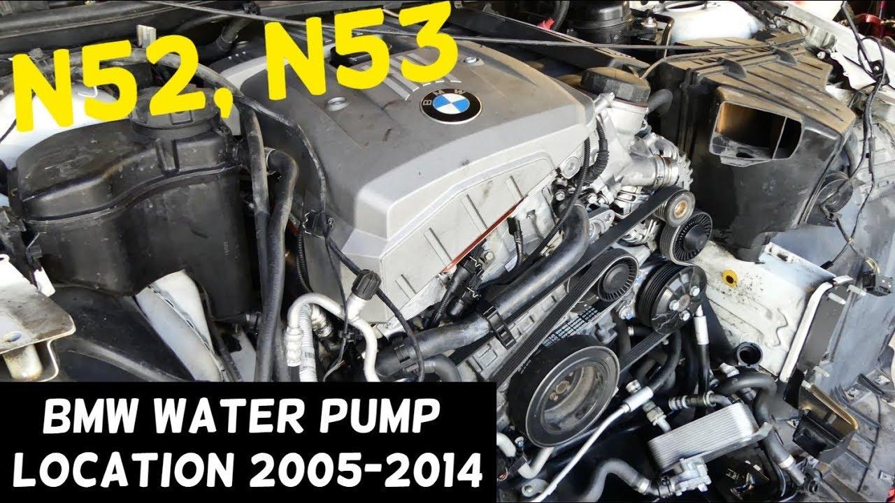 Bmw Electric Water Pump Location N52 N53 Engine 325i 328i 330i 525i 528i 530i X5 X3
