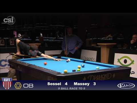 2015 USBTC 9-Ball: Mike Massey vs Jeremy Sossei