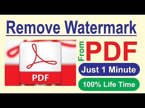 Remove Watermark From PDF In 1 Minutes | How To Remove Watermarks From JPG
