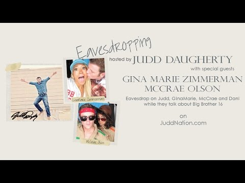 Eavesdropping hosted by Judd Daugherty w/ guest GinaMarie Zimmerman and McCrae Olson
