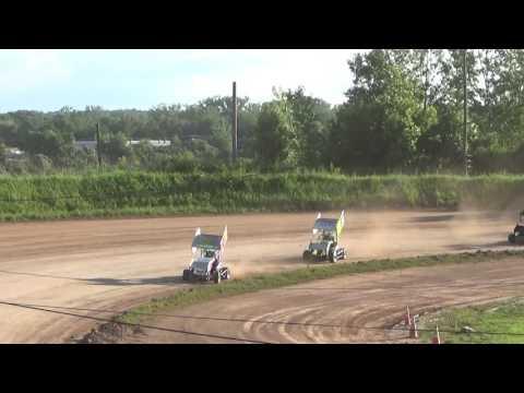 Paradise Speedway Brandyn Griffin 7/8/17 heat race