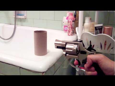 Turkey 9mm P.A.K vs Wc papper Tube ( 450 BAR , 10 cm)