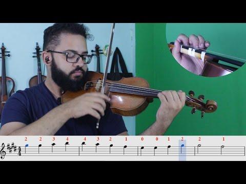 TUTORIAL | Beethoven - Ode à Alegria , Tema da Alegria...| Aulas de Violino Online | INICIANTE 1 #37