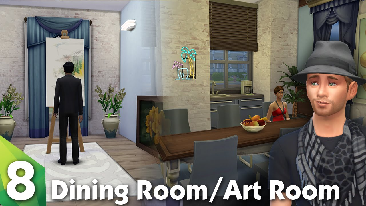 The sims 4 room design the dining room and art room for Sims 4 dining room ideas
