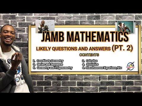 Jamb 2022 Mathematics Likely Questions & Answers (Pt.2)