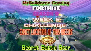 Fortnite Season 9 EXACT location of Week 9 Secret Battle Star & Battle Pass Tier 100 UNLOCKED