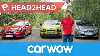 Renault Megane vs Peugeot 308 vs Citroen C4 Cactus 2017 review | Head2head