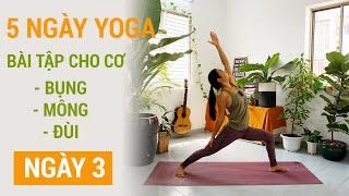 Tự tập yoga tại nhà, thử thách 1 tuần tập cơ bụng, mông đùi | Ngày 3