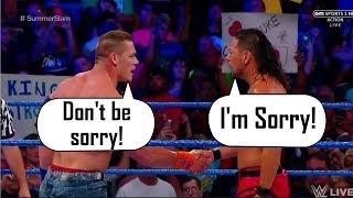 MUST WATCH: Shinsuke Nakamura Says Sorry to John Cena After BOTCH in Match! (Nakamura vs Cena) HD