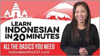 Learn Indonesian in 20 Minutes - ALL the Basics You Need