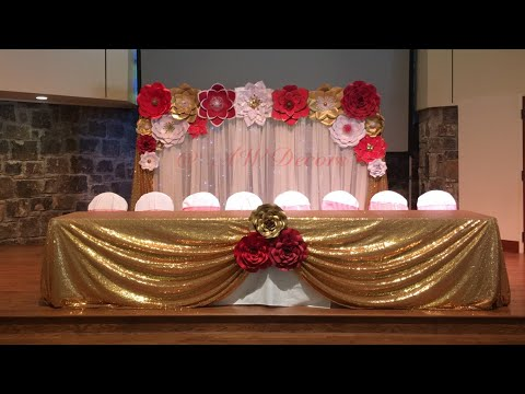 DIY Paper Flower Backdrop  AW Decors  YouTube
