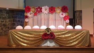 DIY Paper Flower Backdrop | AW Decors