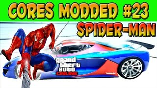 GTA V ONLINE - CORES MODDED #23 - CARRO DO SPIDER-MAN - HOMEM ARANHA - GTA 5 ONLINE