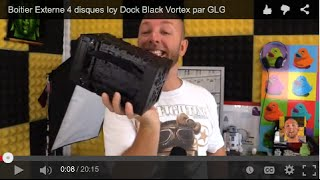 Boitier Externe 4 disques, Icy Dock Black Vortex by GLG