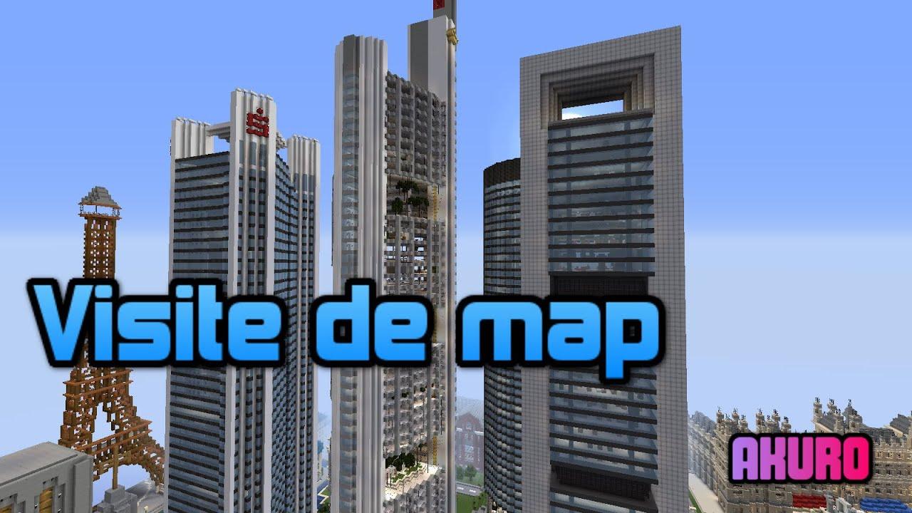 Minecraft visite d 39 une ville moderne youtube - Ville moderne minecraft ...