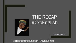 The Recap: Birdshooting Season- Olive Senior