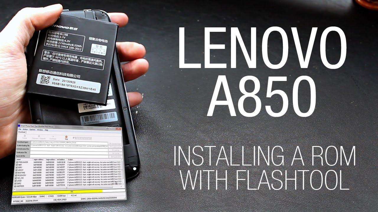 Lenovo A850 - Installing a custom ROM with Flashtool - YouTube