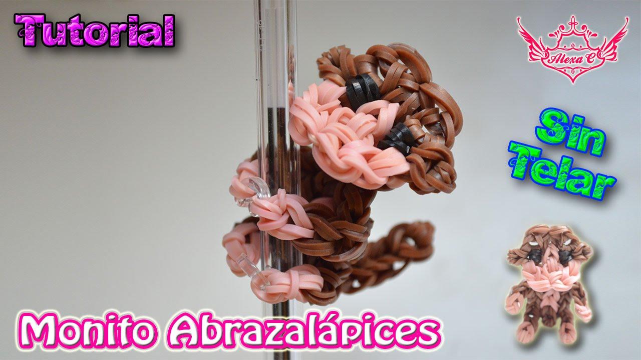 219f11b6c092 ♥ Tutorial: Monito Abrazalápices de gomitas (sin telar) ♥