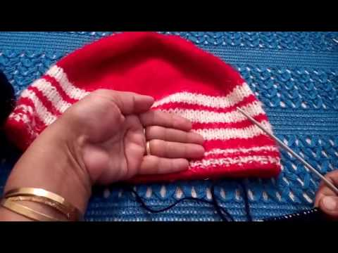 e3a56456414 247 - How to knit a simple CAP for beginners (Hindi  Urdu) 15 1 17 ...