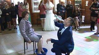 Свадьба. помыл тёще ноги за одно и бухнул