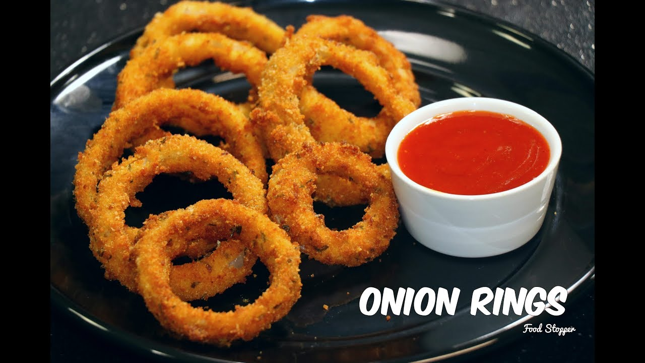 Onion Rings Homemade Onion Rings Snack Ideas Food Stopper 4K