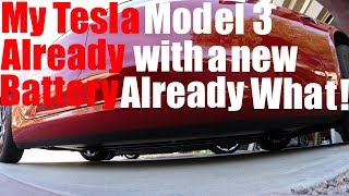 Tesla Model 3 Already with new Battery What!