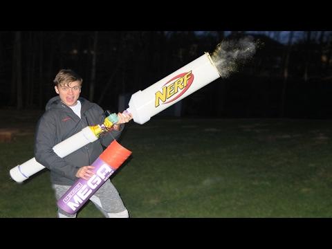 BUILDING ULTIMATE NERF WAR MEGA BLASTER (Extreme Nerf Gun Power!)