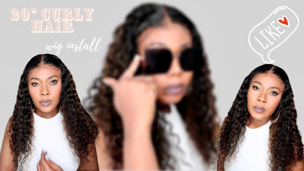 🔥HIGHLIGHT CURLY LOOSE WAVE INSTALL   SUPER  MELTED WITHOUT  GLUE   afsisterwig